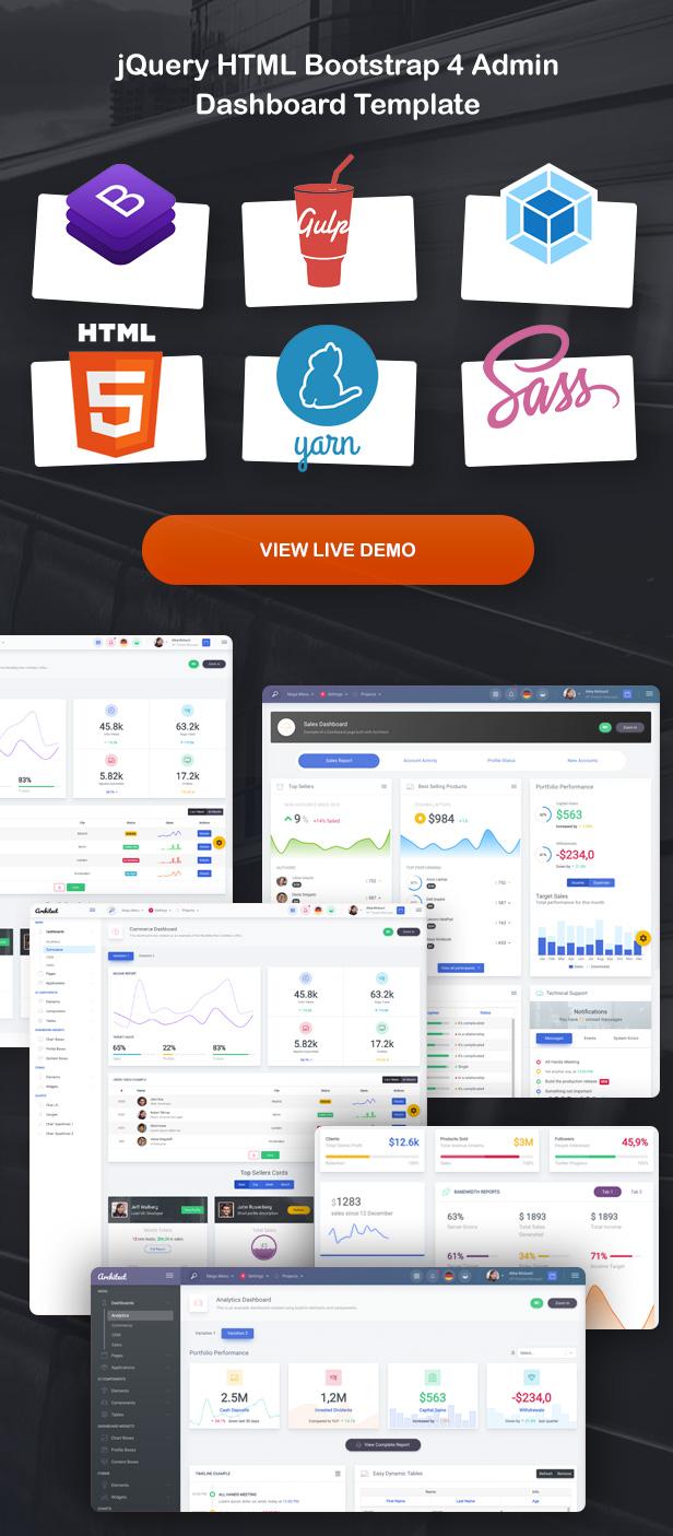 ArchitectUI - HTML Bootstrap 4 Admin UI Dashboard Template - 5