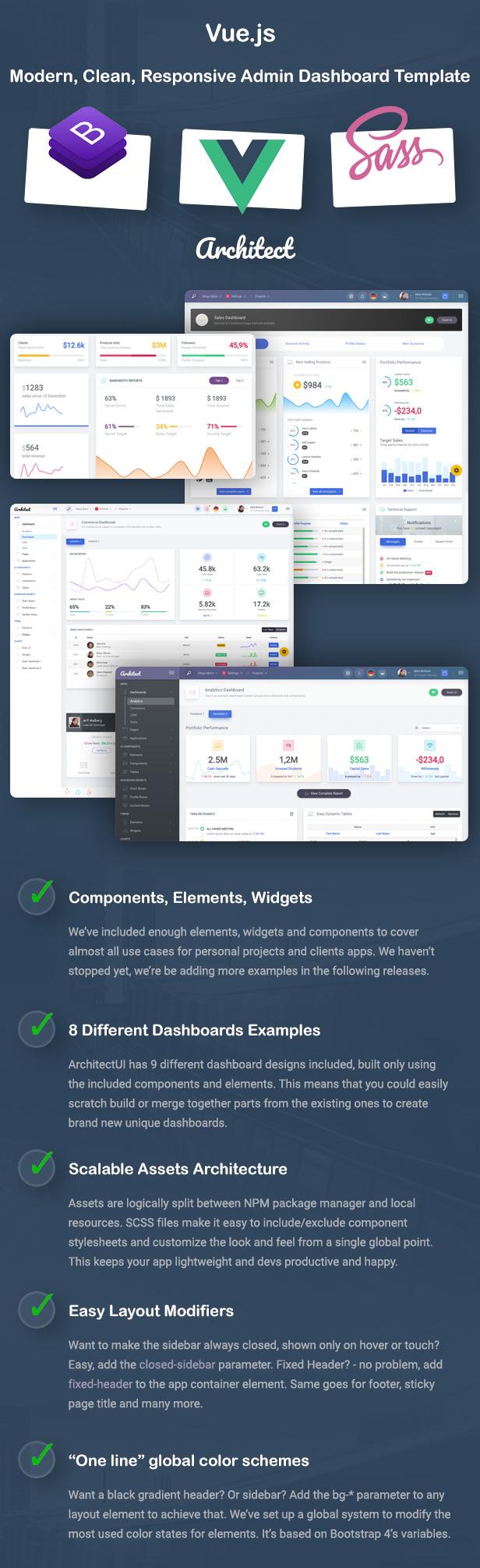 ArchitectUI - Vue.js Bootstrap Admin UI Dashboard Template - 4